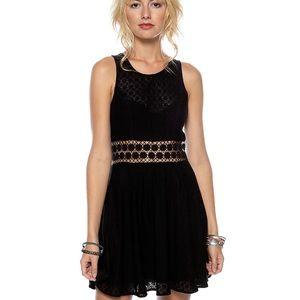 FREE PEOPLE Black Daisy Waist Dress